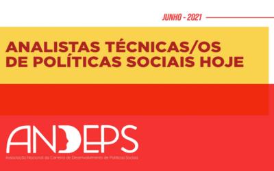 Folder: Analistas técnicos/as de Políticas Sociais Hoje
